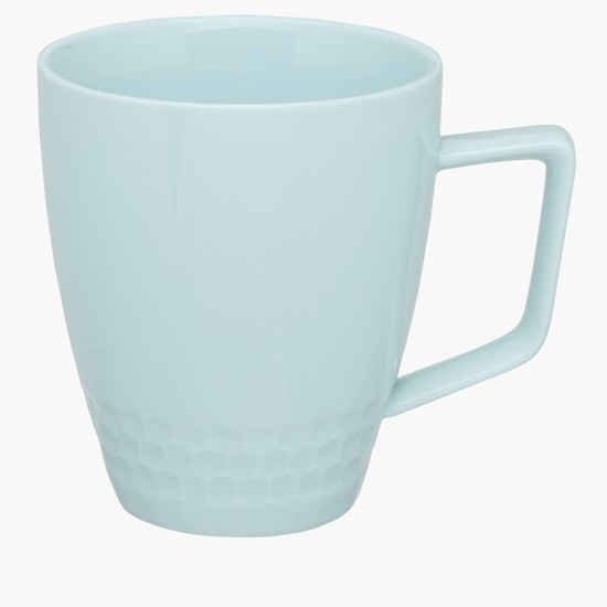 Debossed Mug with Square Handle