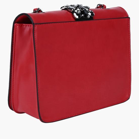 Embellished Crossbody Bag with Sling