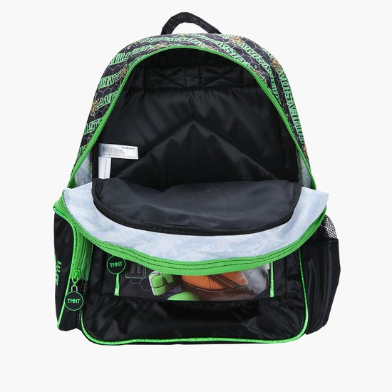 Ninja Turtle Printed Backpack with Zip Closure