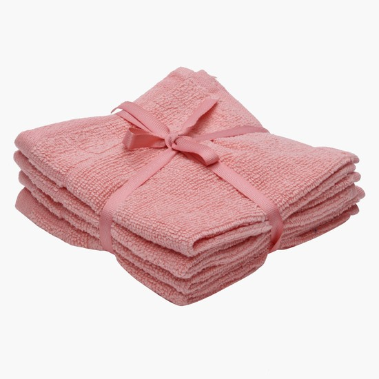 Textured Face Towels - Set of 4