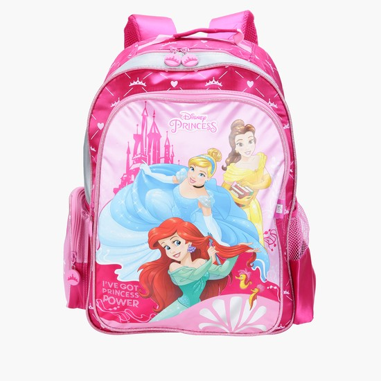 Princess Printed Backpack with Zip Closure