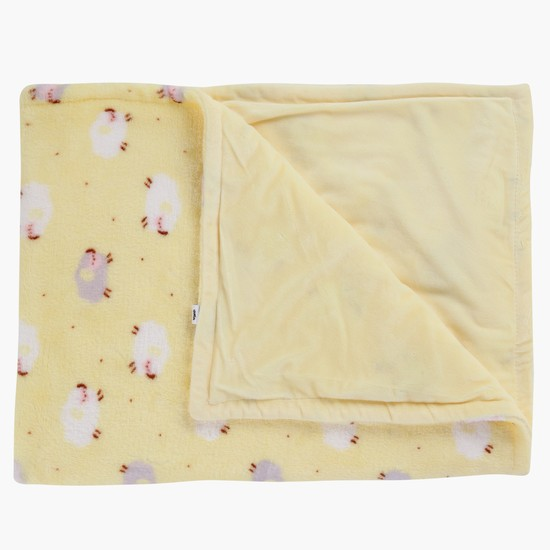 Lamb Print Blanket - 75x100 cms