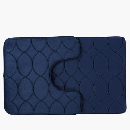 Textured 2-Piece Bath Mat Set
