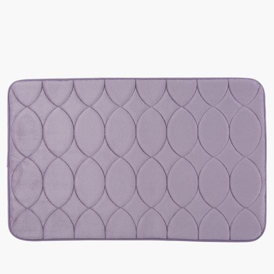 Quilted Rectangular Bathroom Mat - Set of 2