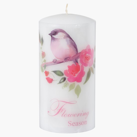 Printed Decorative Pillar Candle