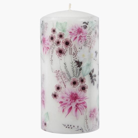 Printed Decorative Pillar Candle
