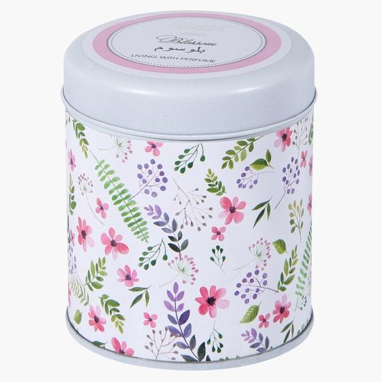 Floral Print Jar Candle
