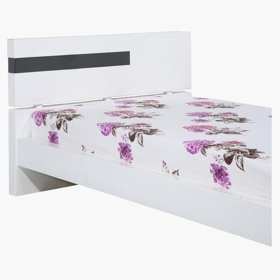 طقم شراشف سرير مطبّع بالأزهار من 3 قطع
