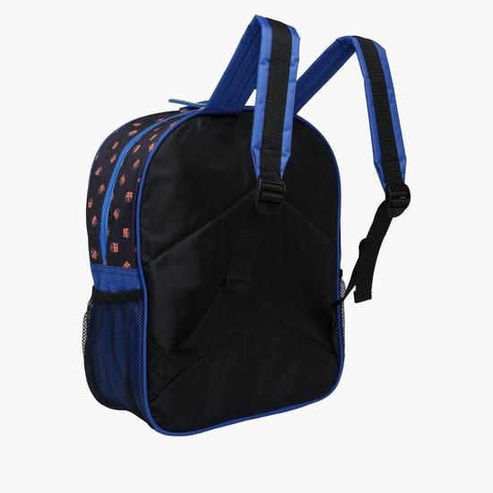 FCB Printed Backpack with Zip Closure