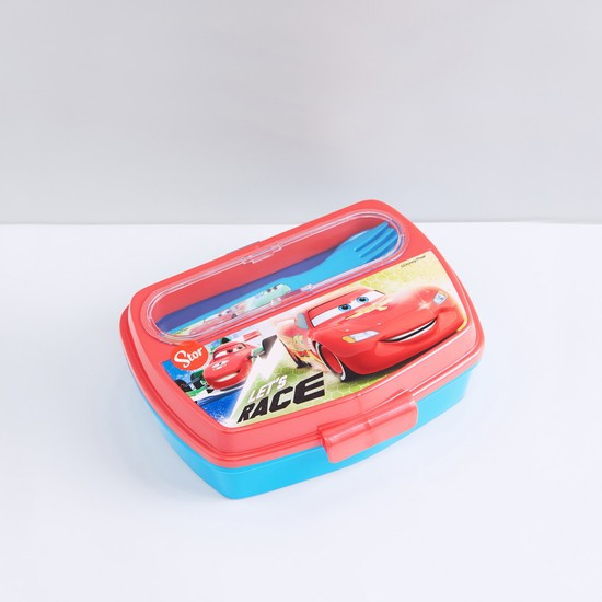 Printed Lunchbox with Spoon and Fork
