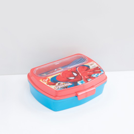 Spider-Man Printed Lunchbox with Spoon and Fork