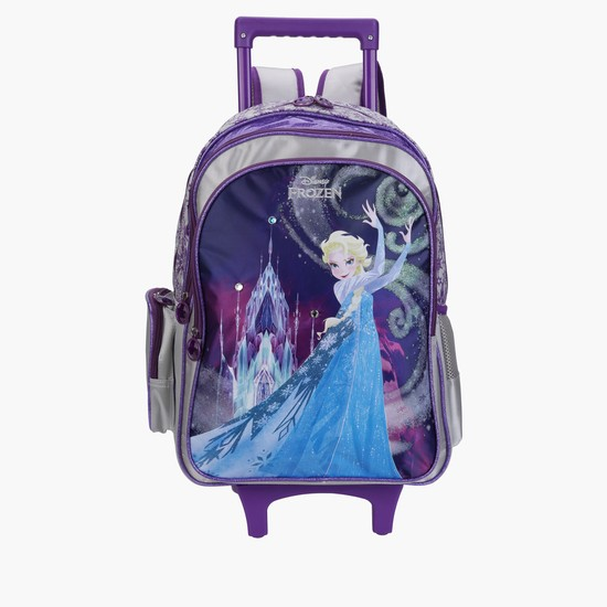Frozen Printed Trolley Backpack