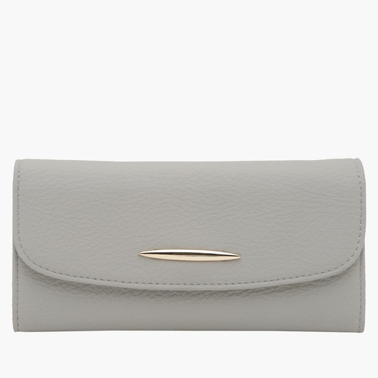 Textured Wallet with Flap