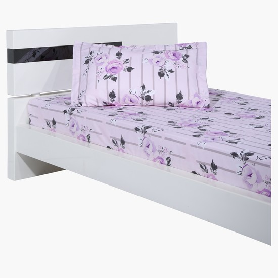 Floral Print 3-Piece Bed Sheet Set