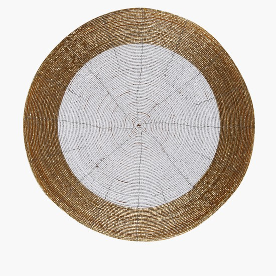 Beaded Round Placemat - 36 cms