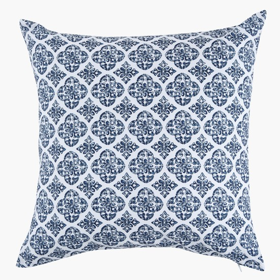 Striped Square Filled Cushion - 45x45 cms