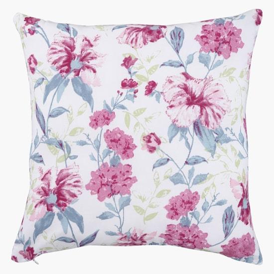 Floral Print Filled Cushion - 45x45 cms