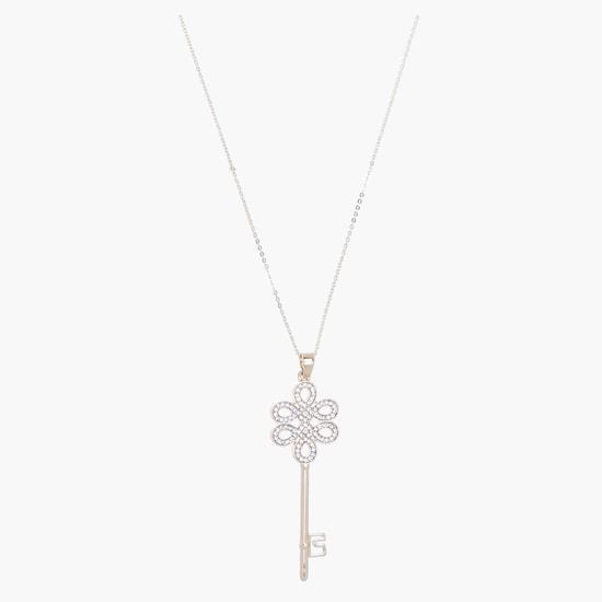 Studded Key Necklace