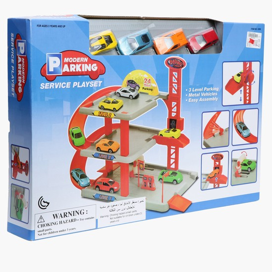 Modern Parking Garage Play Set