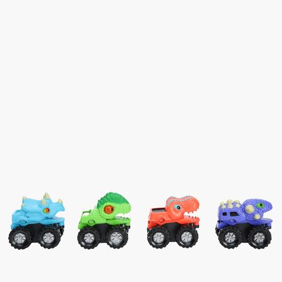 Dino 4-Piece Monster Wheels Truck Set