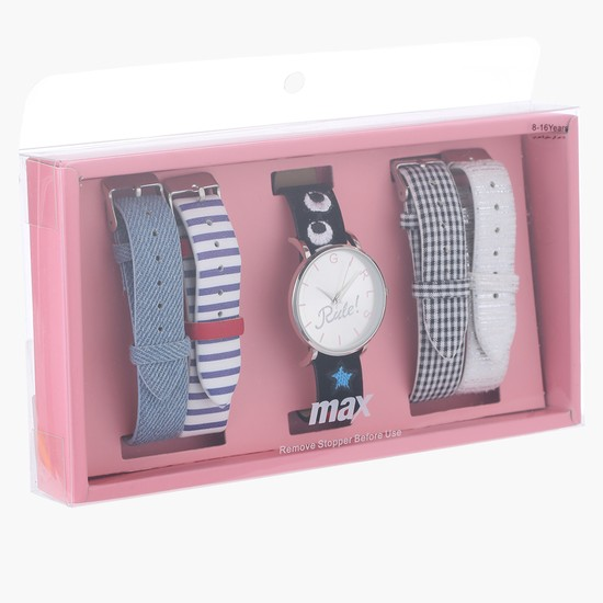 Watch with Assorted Straps