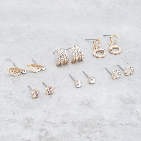 Embellished Earrings - Set of 6