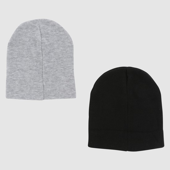 Embroidered Beanie Caps - Set of 2