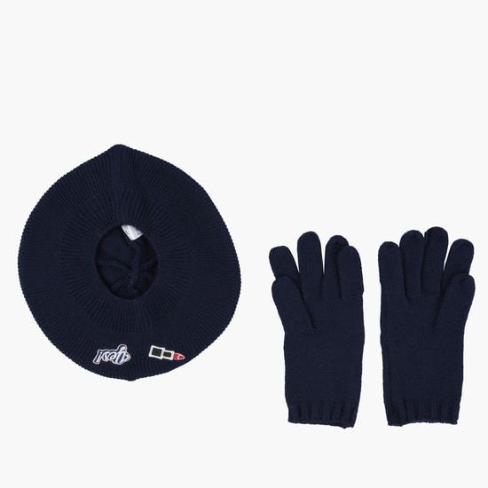 Beret Cap and Gloves Set