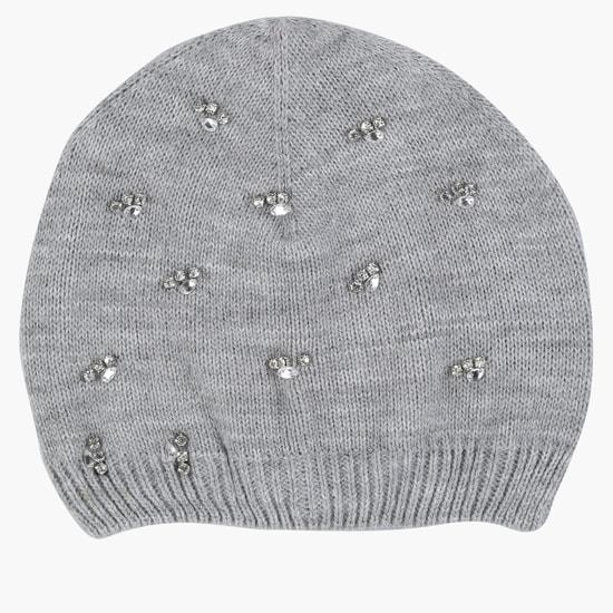 Embellished Beanie Cap