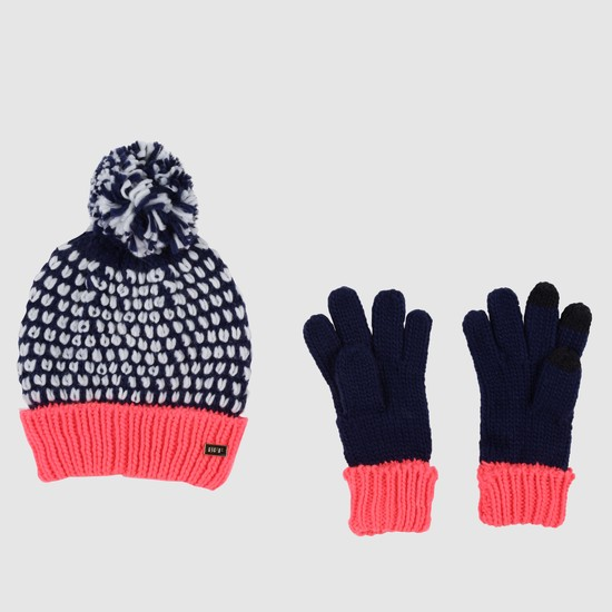 Beanie Cap and Gloves Set