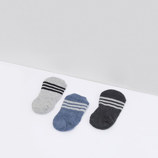 Set of 3 - Striped No Show Socks