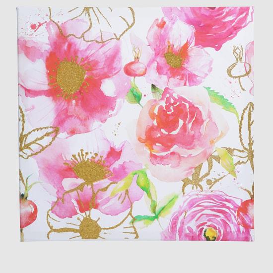 إطار صور مزخرف بطبعات الأزهار