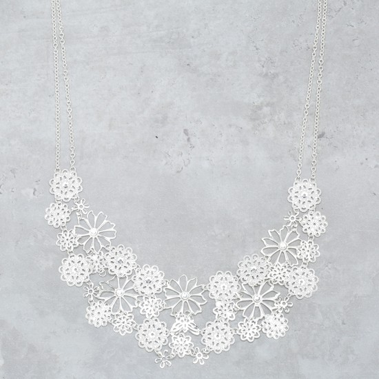 Floral Cutwork Necklace
