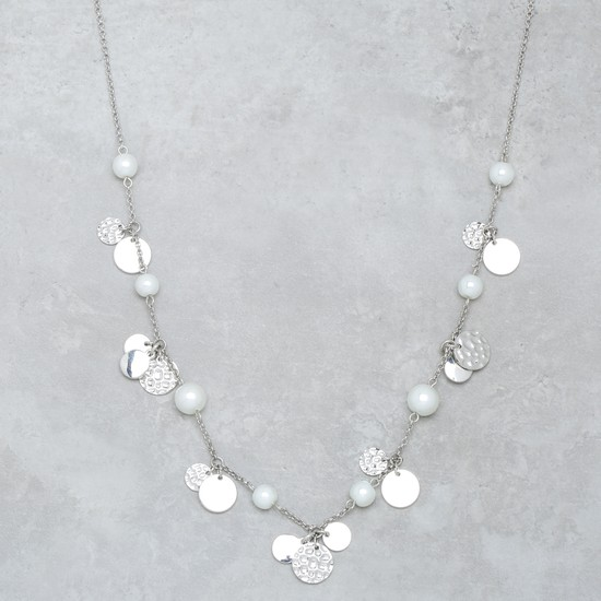 Metallic Necklace with Charms