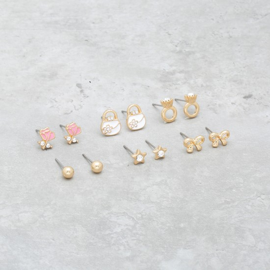 Stud Earrings - Set of 6
