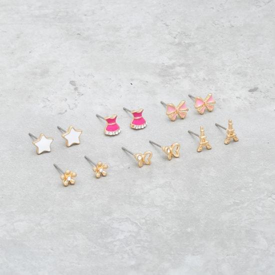 Stud Earrings - Set of 6