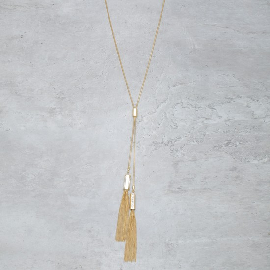 Tasseled Necklace with Chain