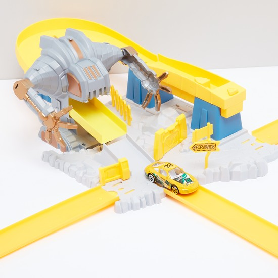Launch Pathway Robot Mouth Escape Racing Playset