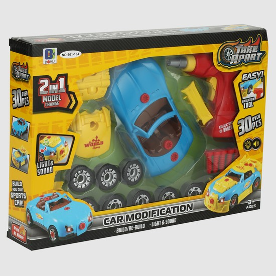 2-in-1 Racing Car with Light and Sound