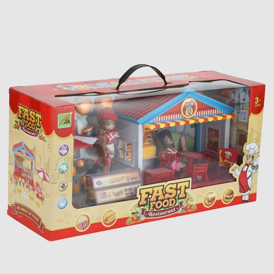 Fast Food Car Playset with Light and Sound