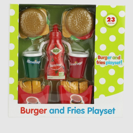 Burger and Fries Playset