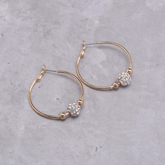 Studded Hoop Earrings Set