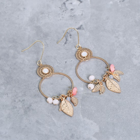 Dangling Earrings with Charms and Fish Hook Closure