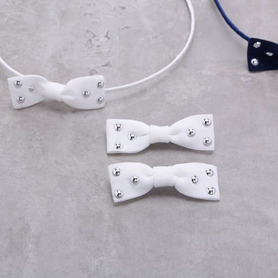 Studded Hairband and Hair Clips - Set of 2