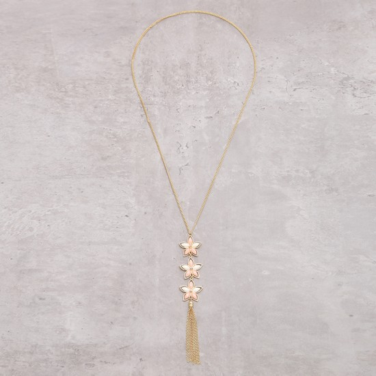 Necklace with Star Applique and Tassel Detail