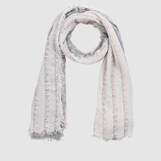 Rectangle Scarf with Fringes