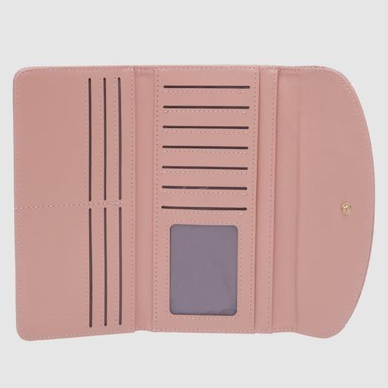 محفظة بارزة الملمس بطيّة ثلاثية