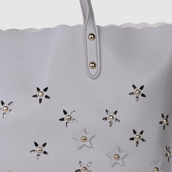 Embellished Tote Handbag