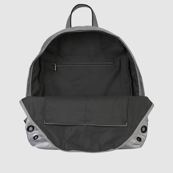 Eyelet Detail Backpack with Zip Closure