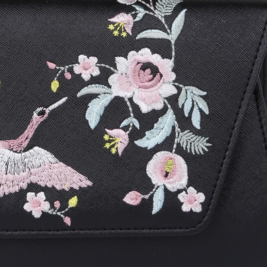 Textured Evening Bag with Embroidery